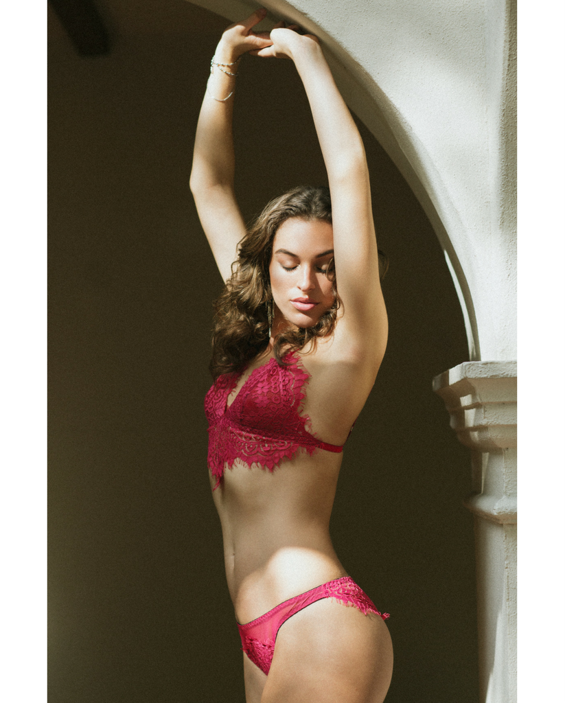 Red Eden Eyelash Lace Undies