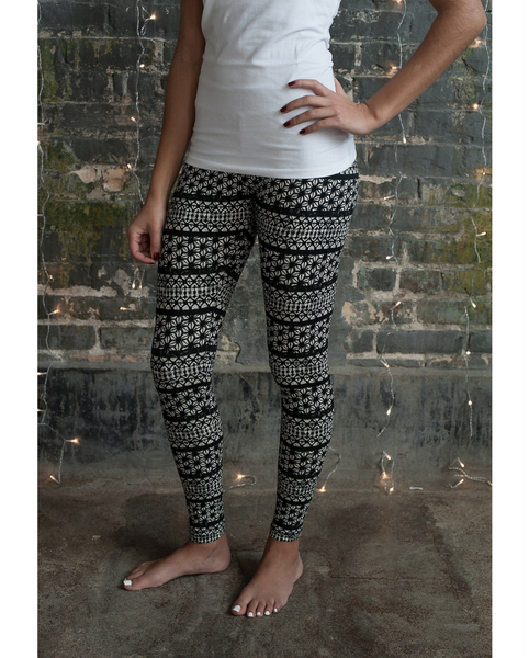 Organic Cotton Holiday Long Leggings