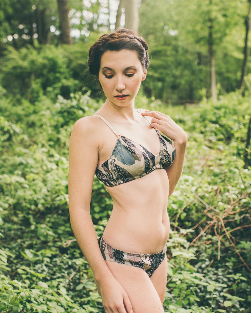 Feather Print Bralette *Only 1 L left!*