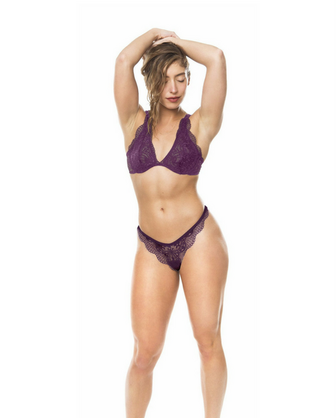 Plum Purple Gisèle Brazilian Thong