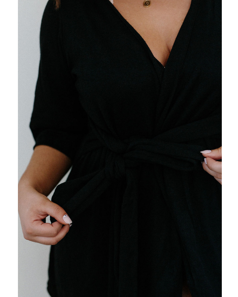 Hana Robe - Black