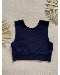 *PRE-ORDER* Organic Cotton Reversible Bralette - Ink Navy Blue