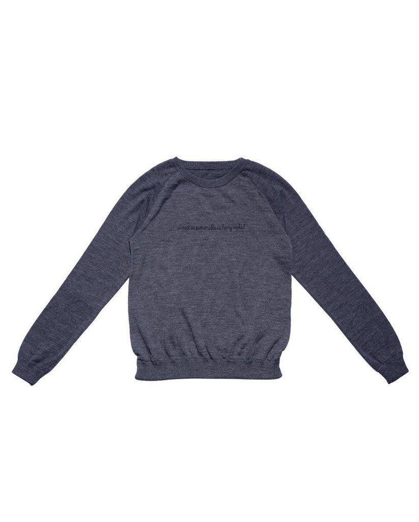 Almost as Sustainable As Being Naked Sweater - Grey *FINAL SALE ITEM*