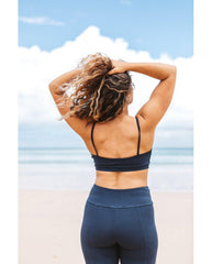 Organic Cotton Light Sports / Yoga / Lounge Bra - Ink Blue *Only S, XL, 2XL left! FINAL SALE*