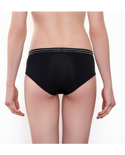 Leroy Bamboo Boyshort Undies - Black