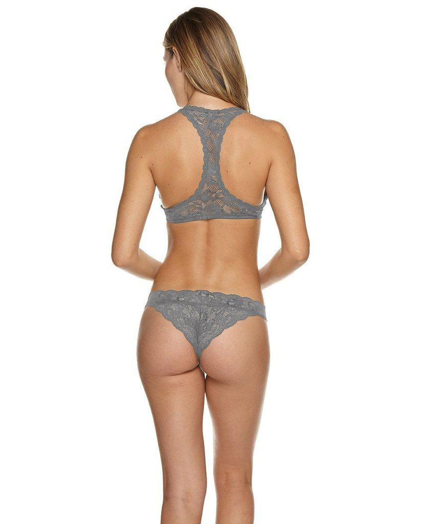 Grey Never Say Never™  Racie™ Racerback Bralette - Only Ls left!