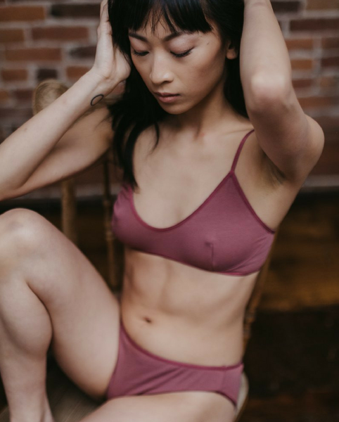 Organic Cotton Catherine Bralette - Red *Only M + L left!*