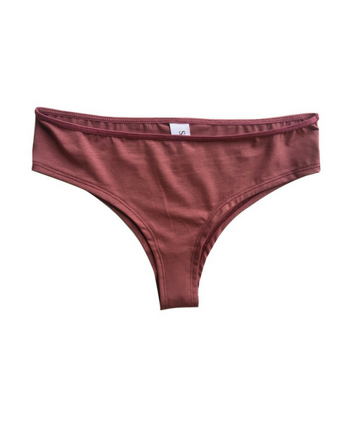 Organic Cotton Jessica Boyshort Undies - Red *Only S + L left!*