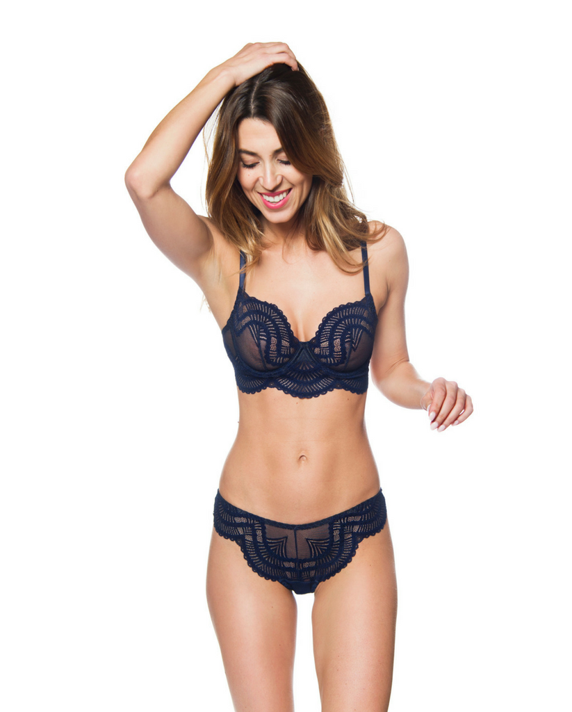 Navy Lace Sasha Underwire Bra *Only 34A left!*