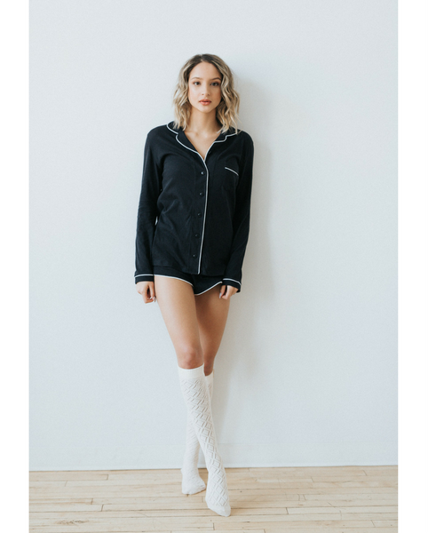 Organic Cotton Long Sleeve  & Shorty PJ Set *FINAL SALE ITEM*