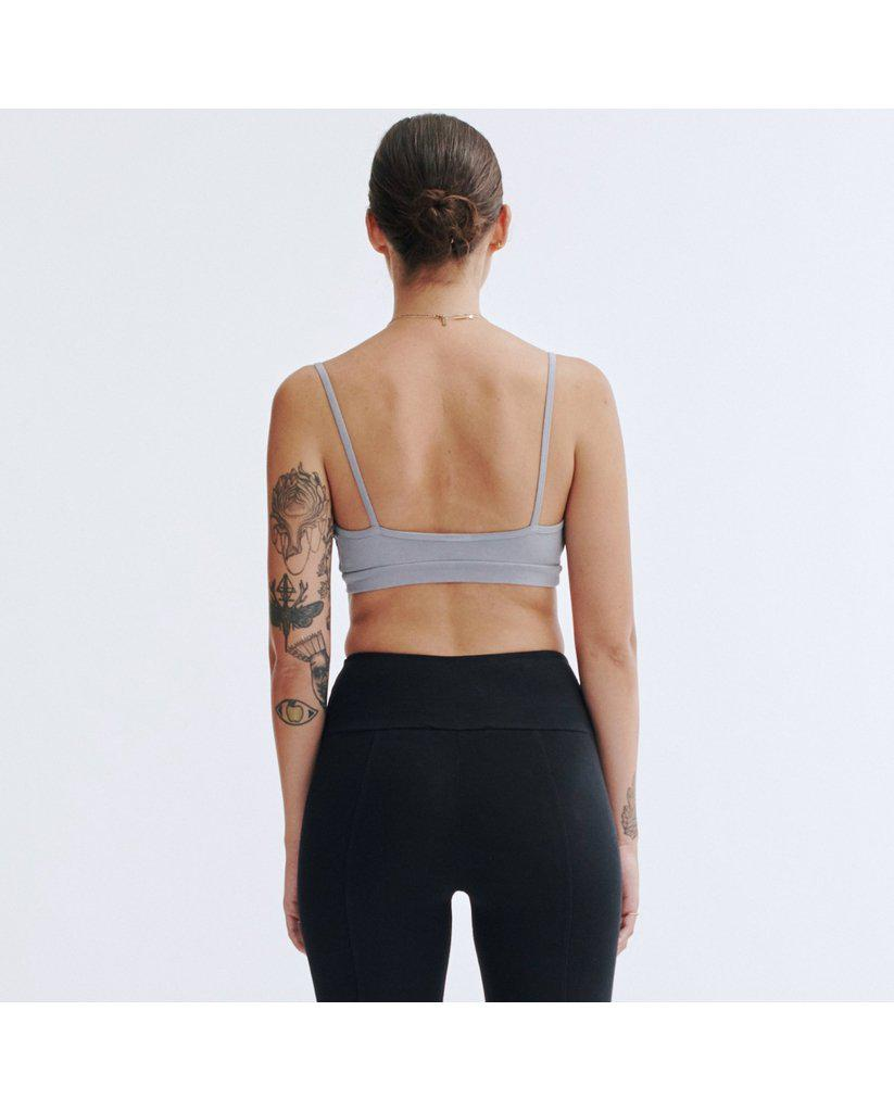 Organic Cotton Light Sports / Yoga / Lounge Bra - Dolphin Grey