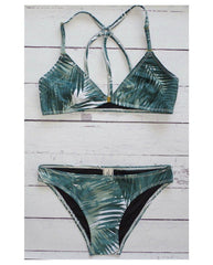 Ziggy Palm Print Halter Bikini Top - Only Mediums left!!