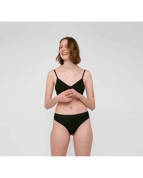 2-Pack Tencel™ Lite Thong - Black *FINAL SALE*
