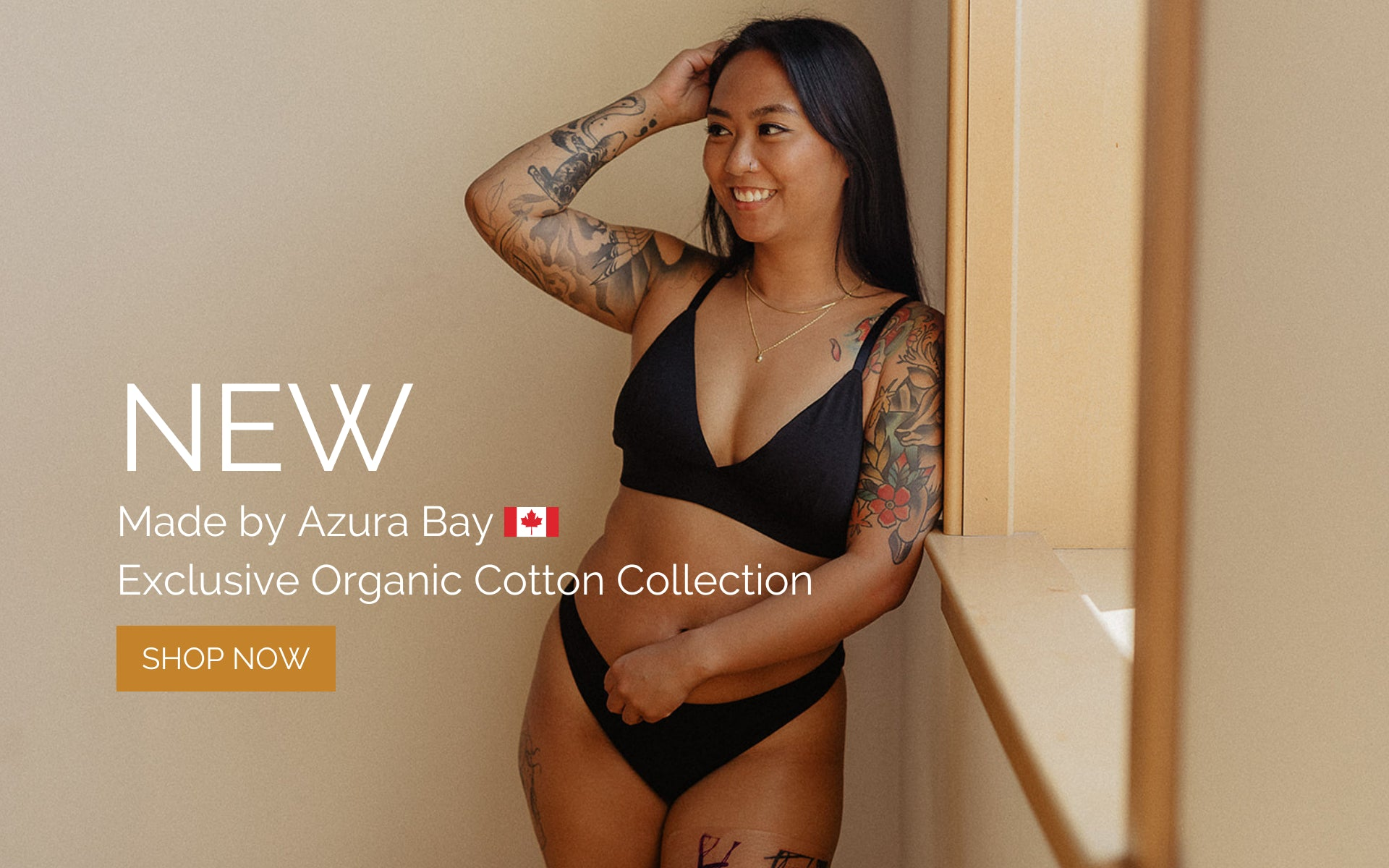 Organic Cotton Bralette + Underwear from Azura Bay