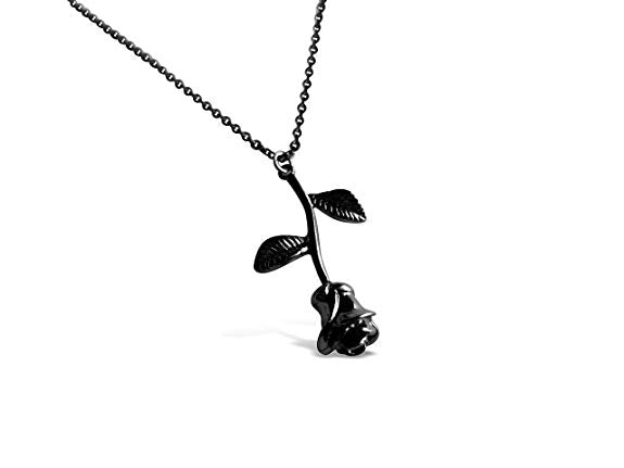 3D Black Rose Necklace-Rosa Vila Boutique