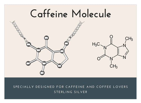 Sterling Silver Caffeine Molecule Necklace-Rosa Vila Boutique
