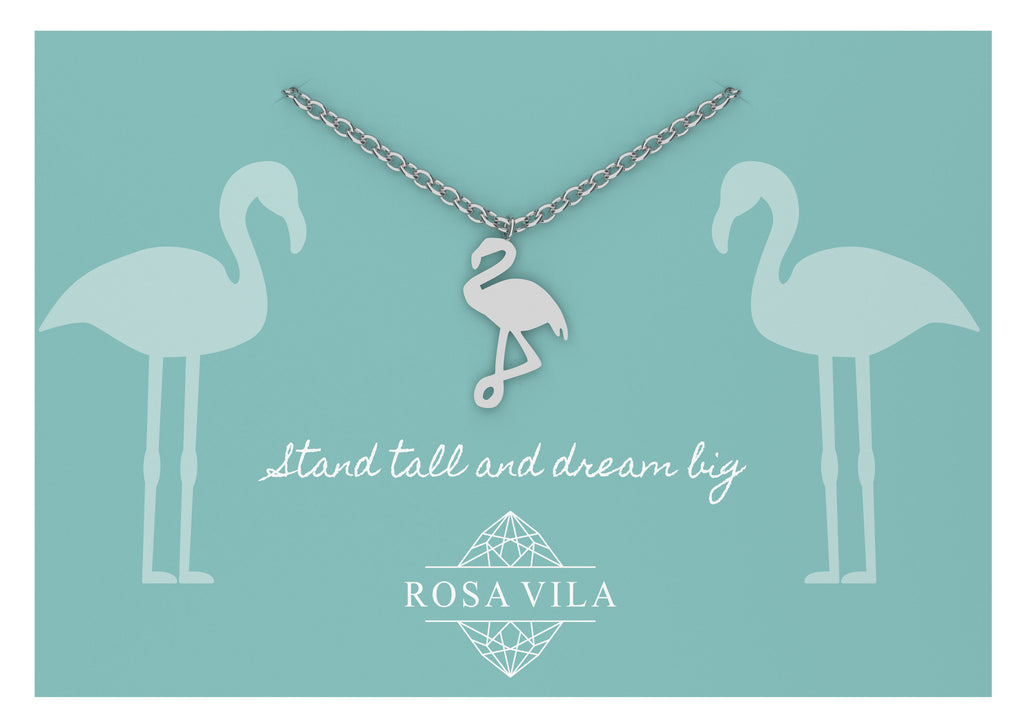 Flamingo Necklace-Rosa Vila Boutique