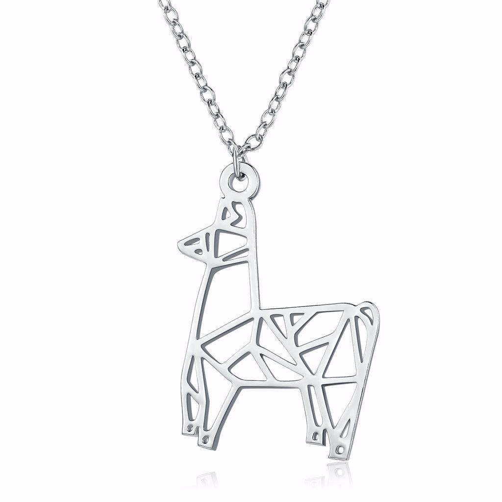 Origami Llama Necklace-Rosa Vila Boutique