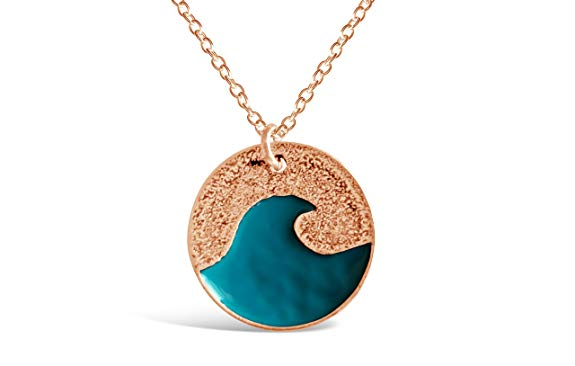 Blue Ocean Wave Necklace-Rosa Vila Boutique