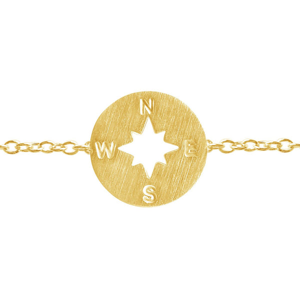 Bracelet - Compass Bracelet - Direction Of Life & I'd Be Lost Without You
