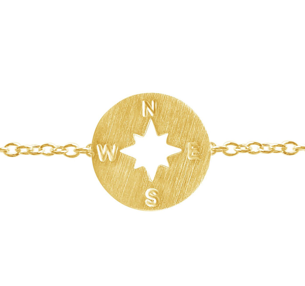 Rose Gold Compass Bracelet-Rosa Vila Boutique