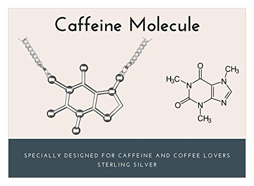 925 Sterling Silver Caffeine Molecule Necklace-Rosa Vila Boutique