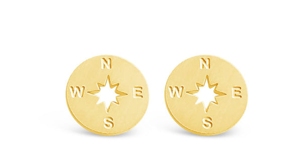 Compass Stud Everyday Earrings Online-Rosa Vila Boutique
