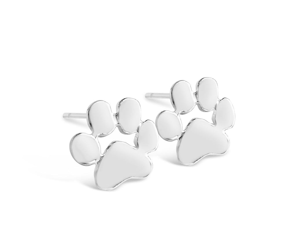 Dog Paw Print Stud Earrings for all Dog Lovers-Rosa Vila Boutique