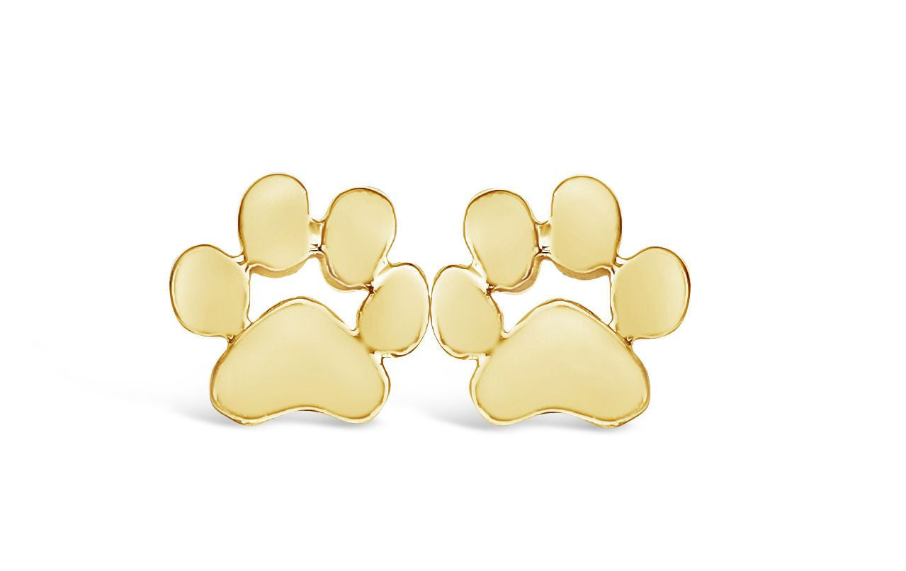 gold stud by elizabethjewelryinc pin on dog earrings white diamond etsy paw
