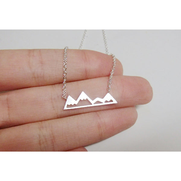 Necklace - Chic Mountain Necklace - Silver, Gold & Rose Gold