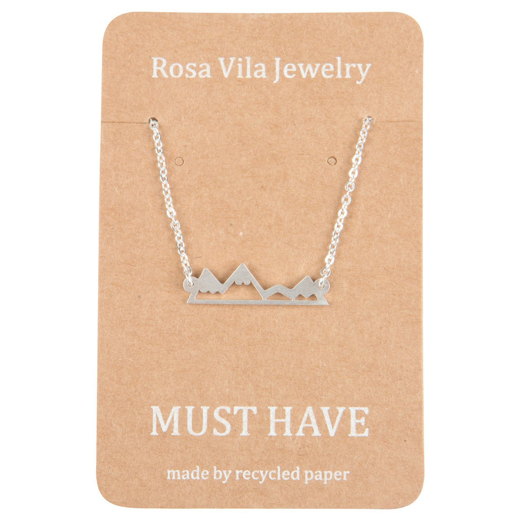 Chic Mountain Necklace Silver, Gold & Rose Gold-Rosa Vila Boutique