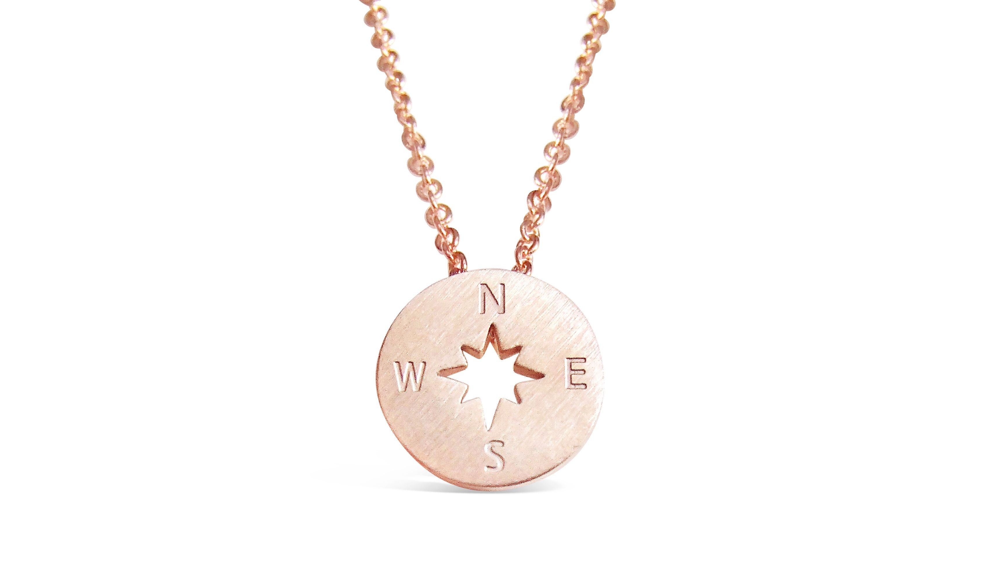 be women womens inscribed necklace with s joshua graduation reverse on gold courageous compass products strong