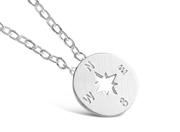 Compass Necklace -  I'd Be Lost Without You - Rosa Vila