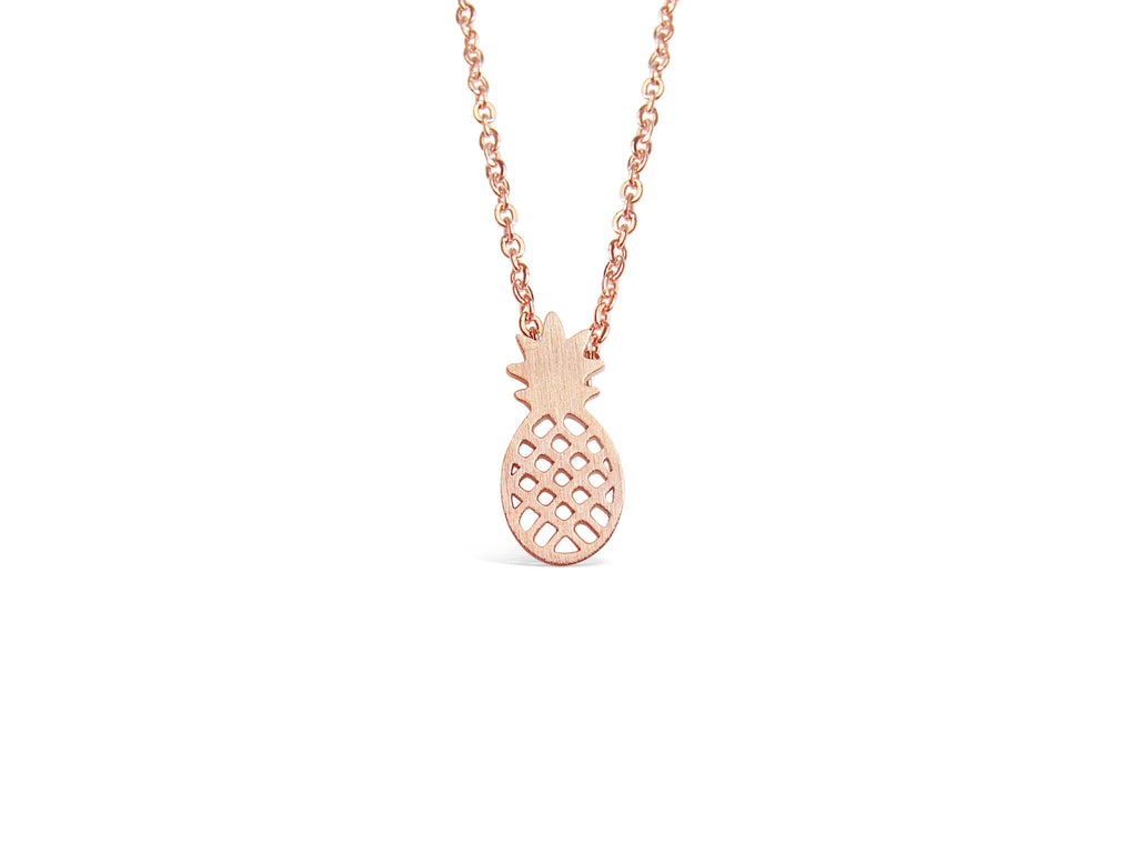 Necklace - Cute Pineapple Necklace - Gold, Rose Gold & Silver