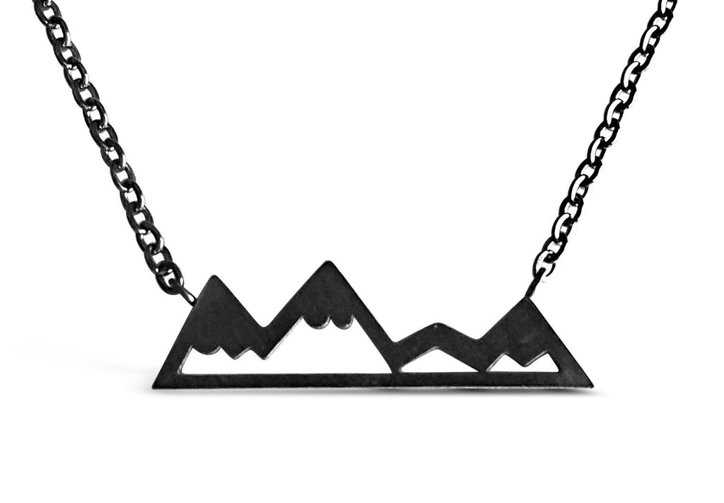 Dainty Mountain Necklace Online Silver & Gold - Rosa Vila