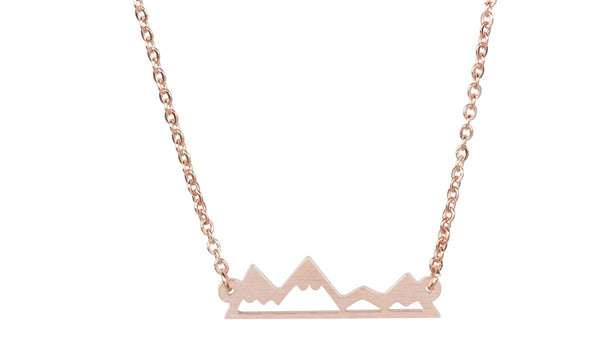 Necklace - Dainty Mountain Necklace - For Outdoor Lovers