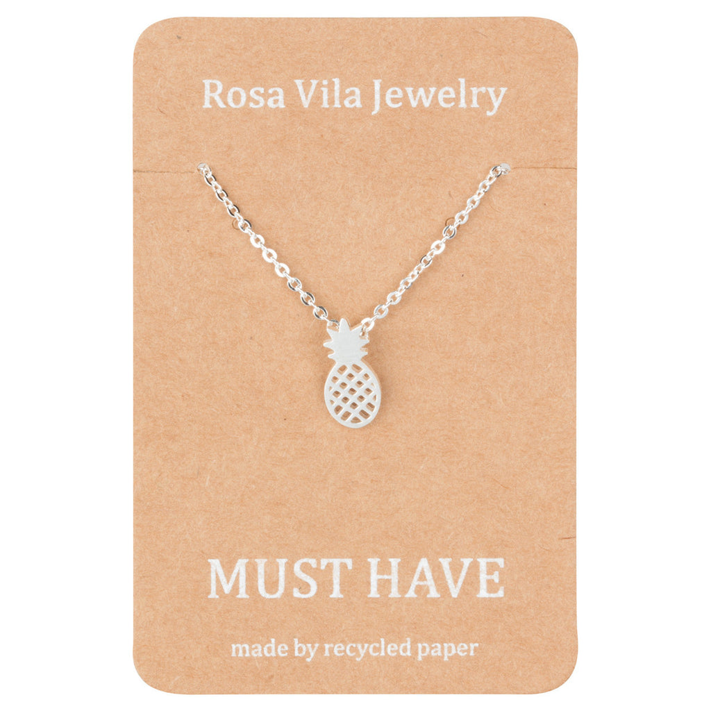 Fruit Inspired Dainty Pineapple Necklace-Rosa Vila Boutique