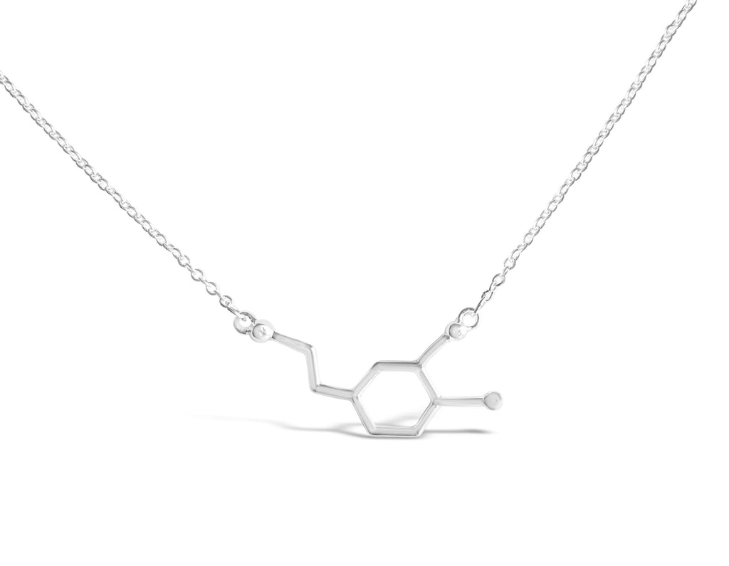 Necklace - Dopamine Molecule Necklace