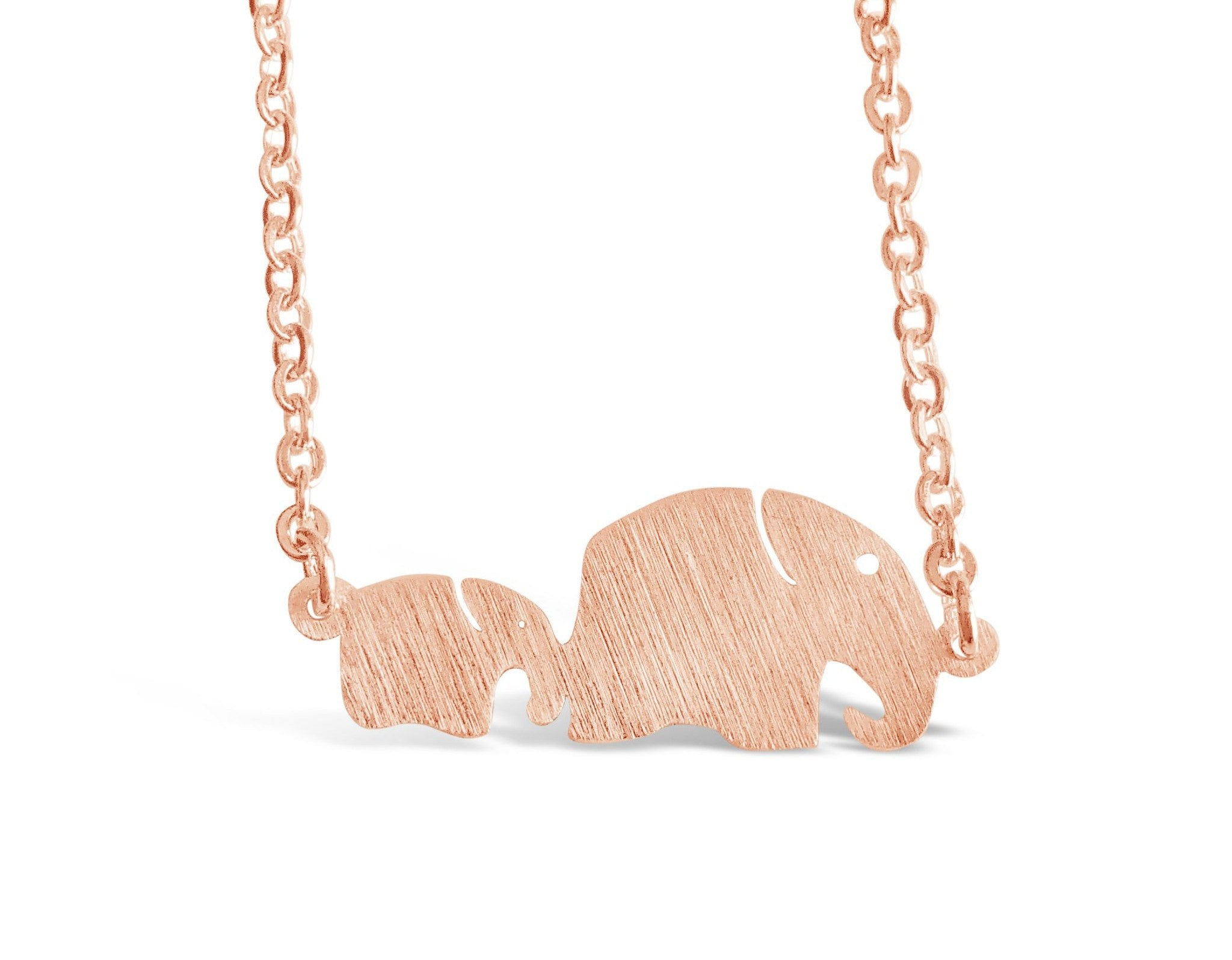 Dainty mom and baby elephant animal necklace rosa vila minimalist mom and baby elephant animal necklace rosa vila aloadofball Image collections