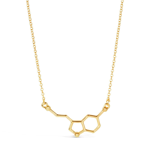 Happiness Serotonin Molecule Necklace - Rosa Vila