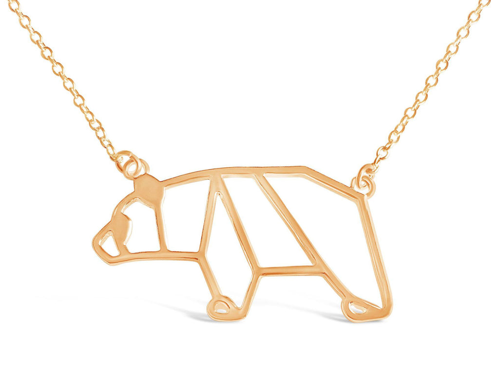 Honey Bear Origami Necklace - Rosa Vila