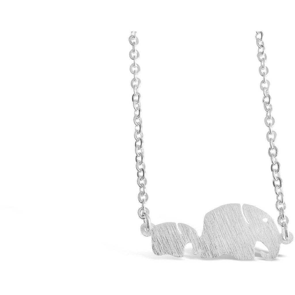 Necklace - Mom And Children Elephant Necklace Baby Elephant Pendant Necklace Silver Tone Thai Elephant