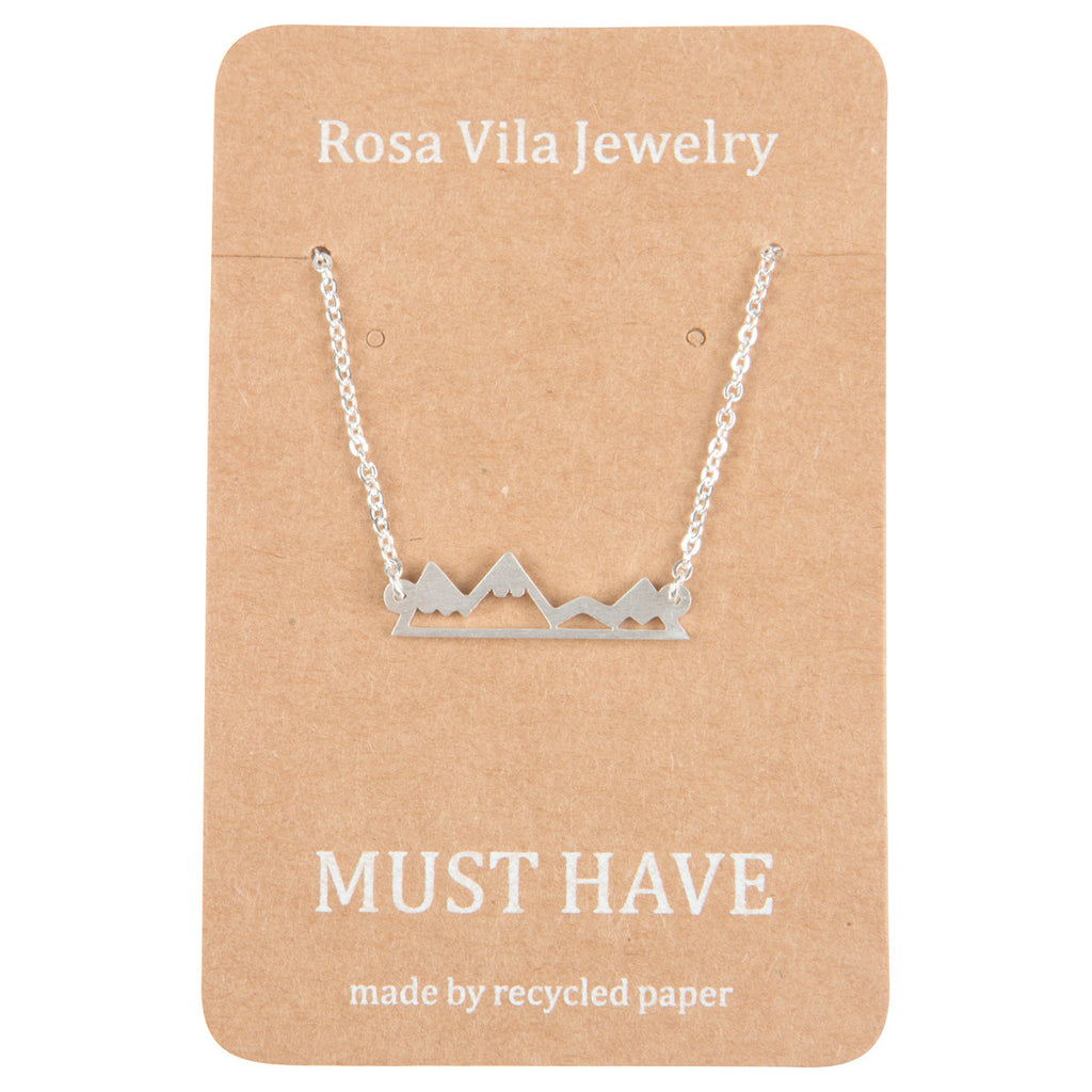 Mountain Necklace For Mountain Lovers, Hikers & Skiers-Rosa Vila Boutique