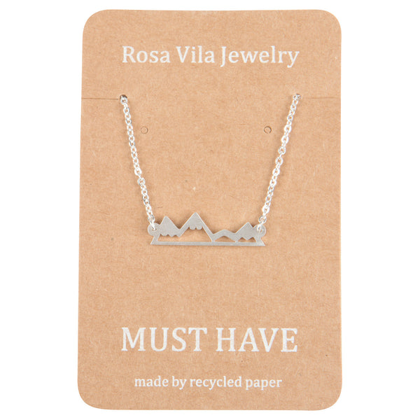 Mountain Necklace For Mountain Lovers, Hikers and Skiers-Rosa Vila Boutique