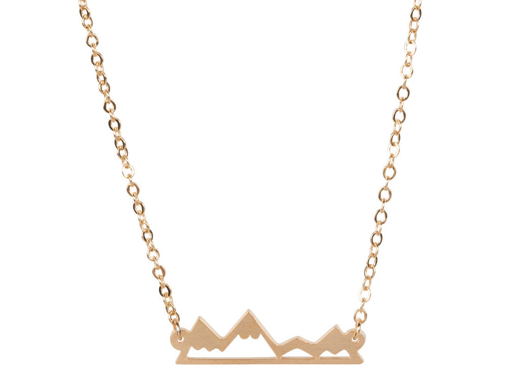 Necklace - Mountain Necklace - Rose Gold, Gold And Silver