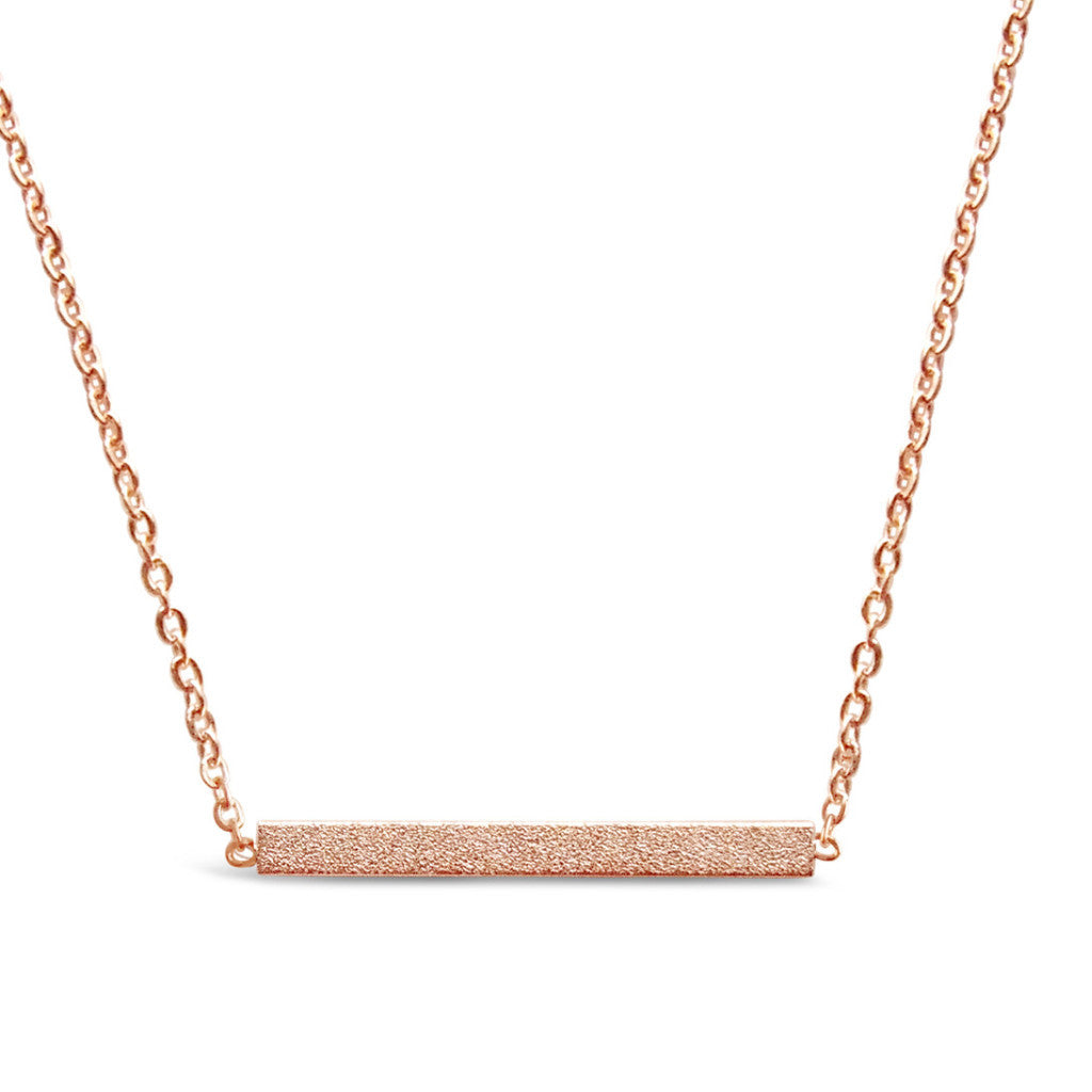 Rose Gold Minimalist Bar Necklace-Rosa Vila Boutique
