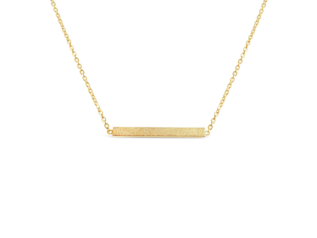 Necklace - Rose Gold Minimalist Bar Necklace - Gold, Rose Gold & Silver