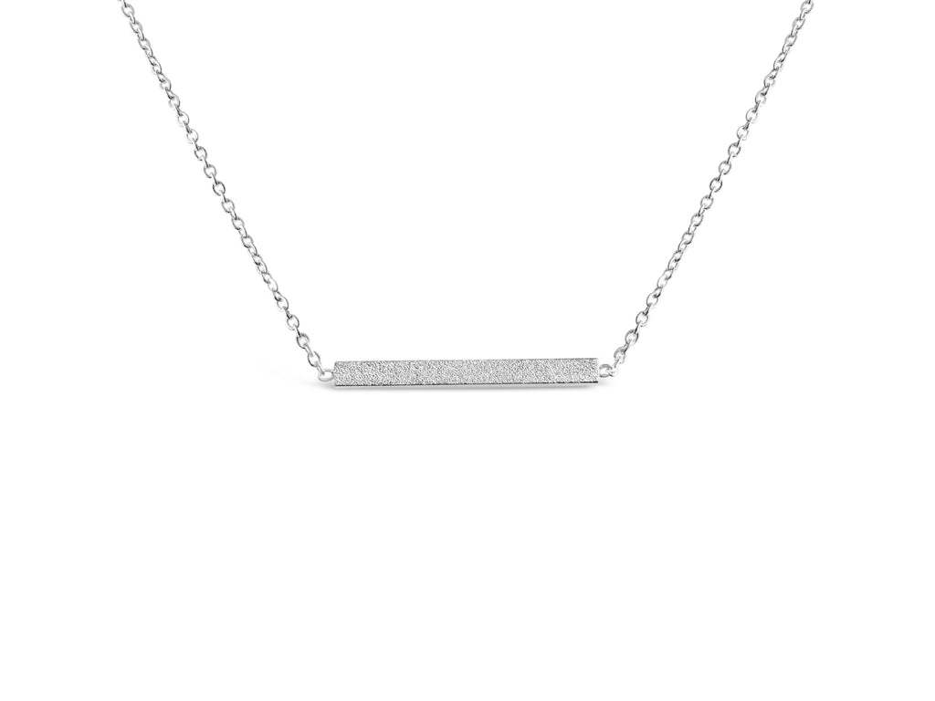 Rose Gold Minimalist Bar Necklace - Rosa Vila