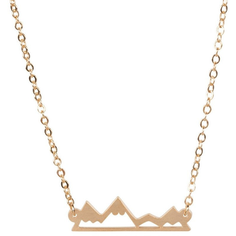 Necklace - Rose Gold Mountain Range Necklace - Rose Gold, Gold And Silver