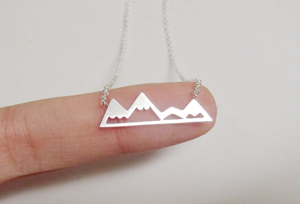 Necklace - Silver Mountain Necklace - Silver, Gold & Rose Gold